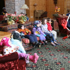 Tommy Tropic entertains with his juggling act at Boyne Mountain Resort of Boyne Falls, Michigan.
