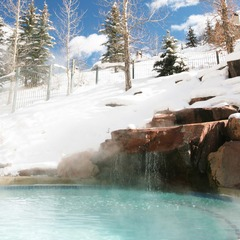 The outdoor tub at the Park Hyatt Beaver Creek Resort and Spa.