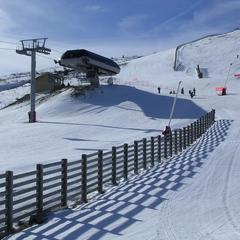 Sur les pistes de ski de Chalmazel dans le Massif Central