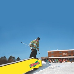 Terrain park action at Ski Brule.