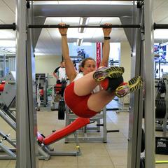 Postseason Ski Exercises with Heather McPhie: Weighted Hanging Leg Raises with Twist