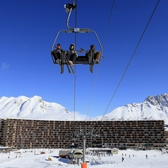 Départ skis au pied depuis les résidences jusque sur les pistes de ski de Superdevoluy