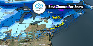 Snow Before You Go: New Snow in the New Year ©Meteorologist Chris Tomer