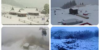Pierwszy śnieg w Polsce i na Słowacji - galeria zdjęć ©Webcamera