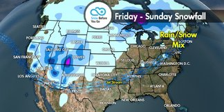Snow Before You Go: Multiple Storms to Blanket West ©Meteorologist Chris Tomer