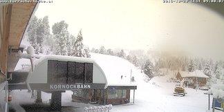 Snehové správy: Nový sneh v Rakúsku, počas víkendu otvárajú ďalšie strediská ©Webcam Turracher Höhe