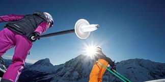 Wintergenot aan de zonnezijde van de Zugspitze