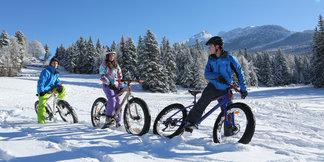 Fat bike & VTT sur neige sur les sentiers enneigés du Vercors ©S. Charles