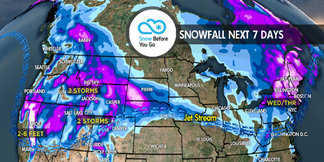 3.15 Snow Before You Go: 2-6 Feet to Whiteout Parts of West ©Meteorologist Chris Tomer