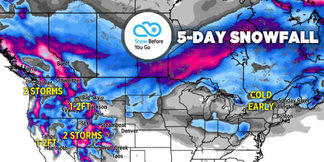 Large Storms, 1-3 Feet for Parts of West: 1.31 Snow B4U Go ©Meteorologist Chris Tomer
