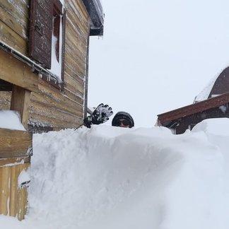 Dubnový sníh v Itálii! - © Val di Fassa Facebook