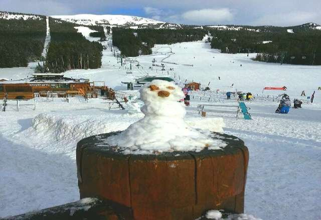 why ski when you can build a man made of snow