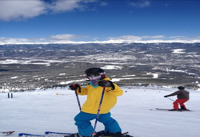 great snow today. lots of powder. if your going to breck hurry up. its getting hotter