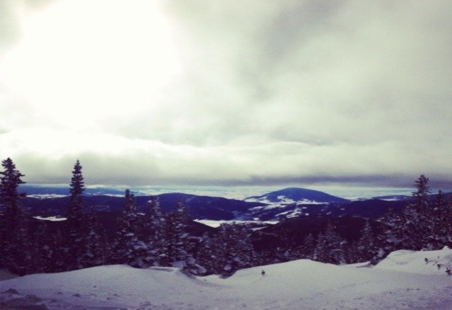 awesome day shreding the pow!!!