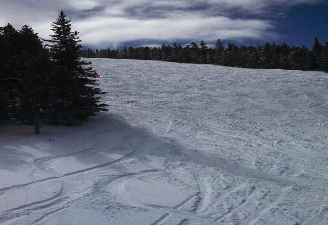 Beautiful day Sunday (3/10), with great snow/powder conditions. Love Ski Cooper! Photo shows Nightmare run: