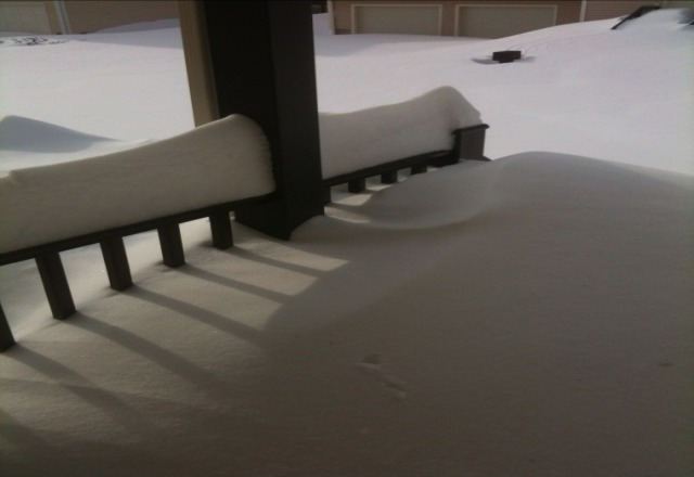 over 2 feet of it. my front porch....wow epic snow here in CT