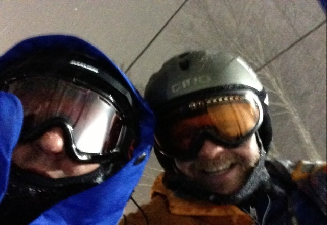 great skiing tonight! cant wait till the morning.
