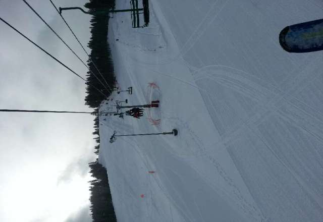 great skiing today.