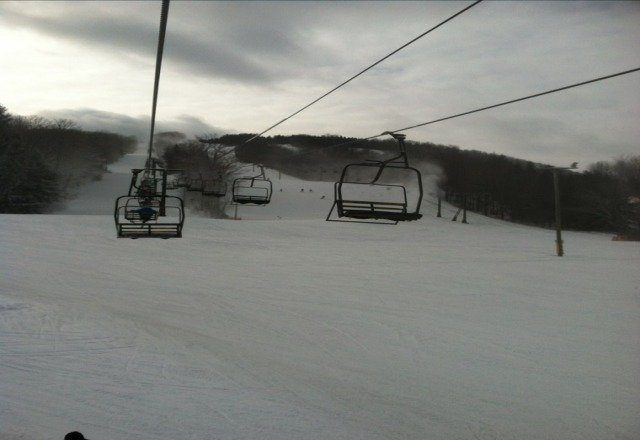 better than its been. atlest they are making snow. still lots of ice. get it in this weekend bc warm weather and rain this week will close most of the hill as they just dont have the base for the warm weather