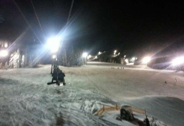 Great snow, clear night.. Wait time on lower lift was 45 minutes most the night