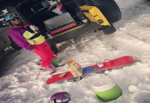 Slopes are alright but the real fun is in the parking lot!