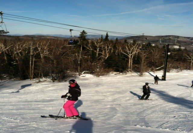 Great weekend of skiing and riding at MtSnow. Northface was the shizznit all weekend. Windy on the south side.