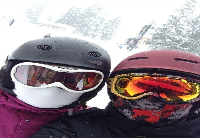 Lots more snow today. What a great day of boarding with my wife. Get up here people!!!