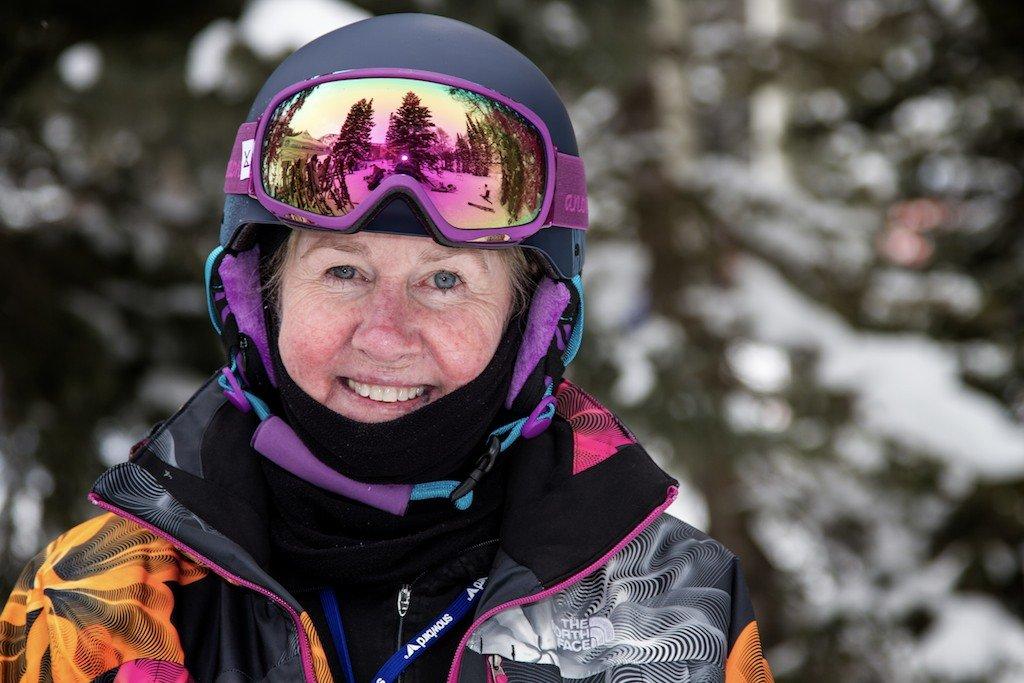 Nona Weatherbee: PSIA Level III Alpine instructor, has taught at the 'Bird since 1971 - © Liam Doran