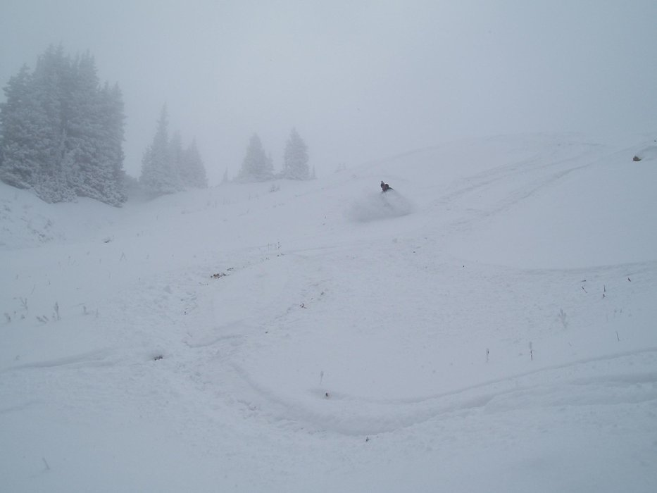 An image from Snowbird, Utah the weekend of October 10, 2008.