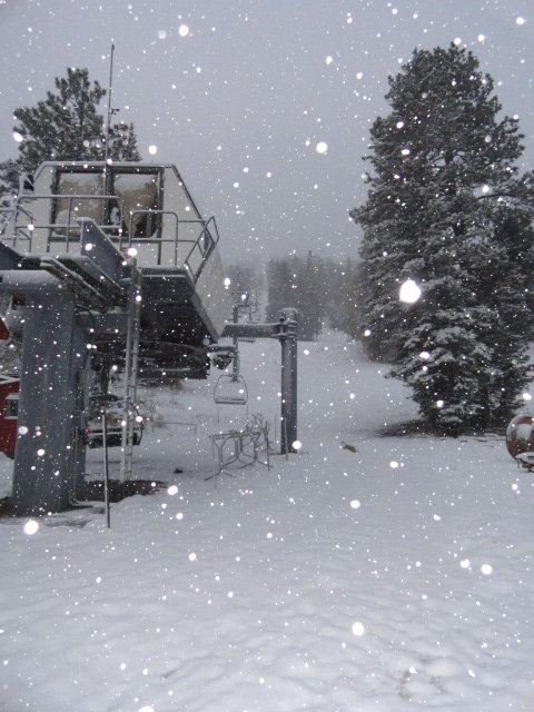 Snow at Sipapu kicks off the official start to snowmaking season - © Sipapu Ski and Summer Resort