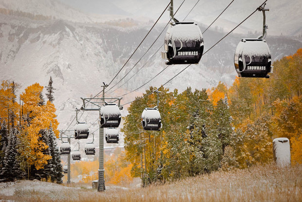 Aspen Mountain's Silver Queen Gondola is running this weekend with free rides to the top Saturday and Sunday. - © Jeremy Swanson