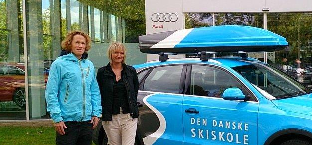 Anders Olesen og ny Skiskole Audi - © Jeppe Hansen
