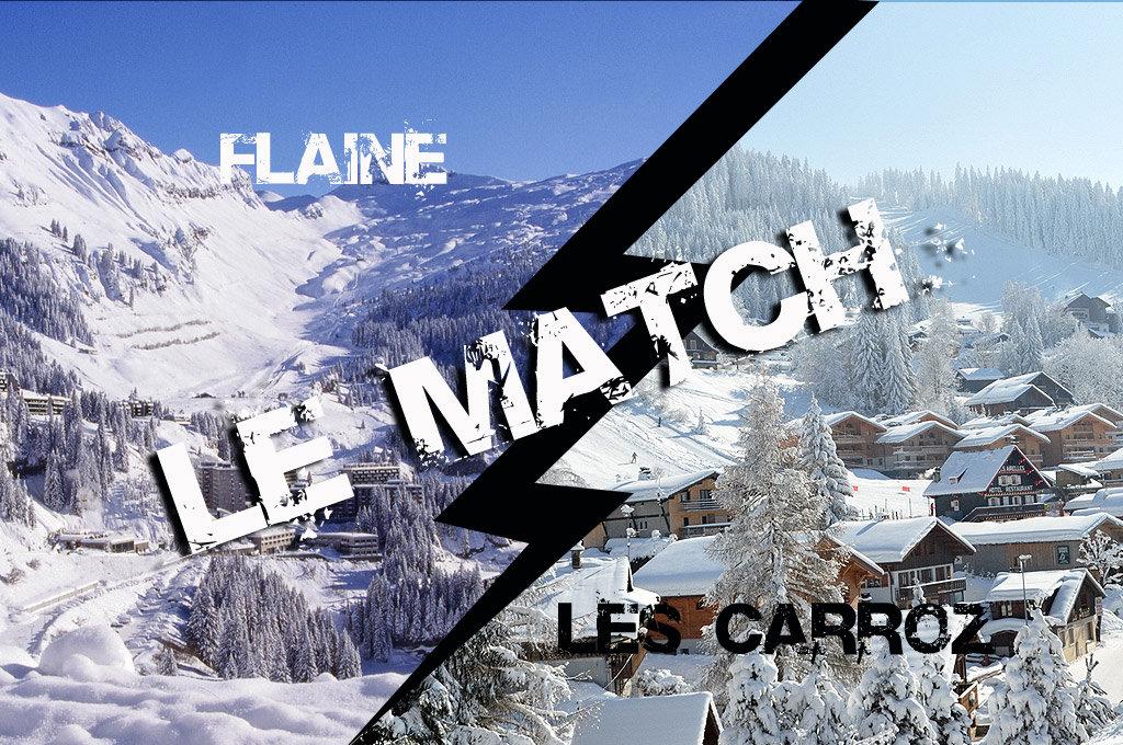 Match comparatif entre Flaine et Les Carroz, deux stations du Grand Massif