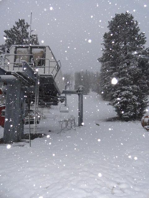 Snow at Sipapu kicks off the official start to snowmaking season - © Sipapu Ski and Summer Resort