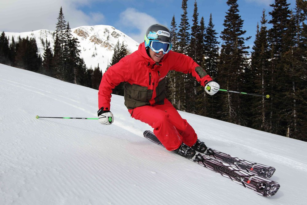 Ted Ligety Split on his home mountain, Park City, Utah