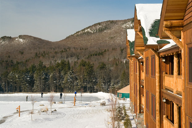 A 7,200 square-foot ice rink is exclusive to Whiteface Lodge guests. - © Whiteface Lodge
