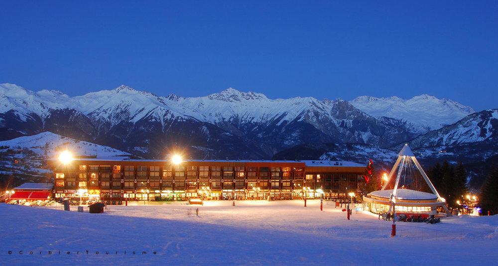 Le front de neige du Corbier - © Corbier Tourisme