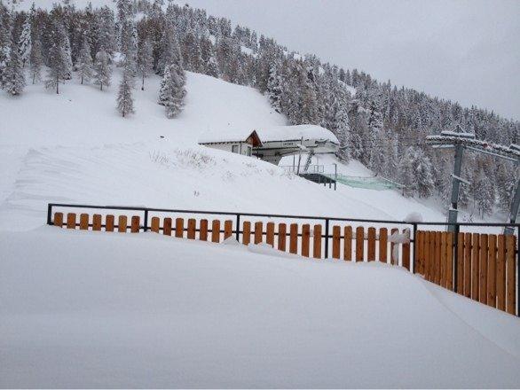 Prima vera nevicata 120 cm di neve totale 24/11/13