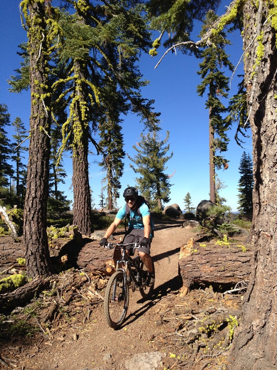 Travis Ganong back home on the bike above Tahoe City, CA.  - ©Travis Ganong
