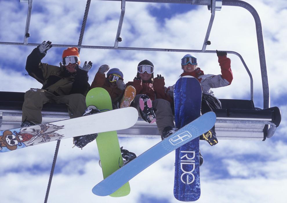 Richtig Liften mit dem Snowboard will gelernt sein