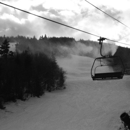 Decent conditions, blowing tons of snow