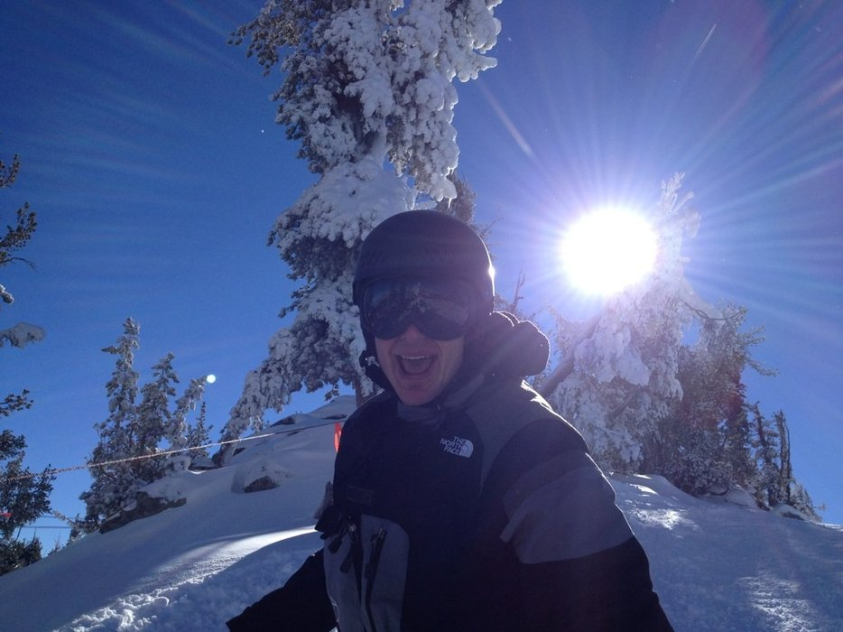 Powderliscious! Heavenly, Sunday 12/8.  Sean is a fan!