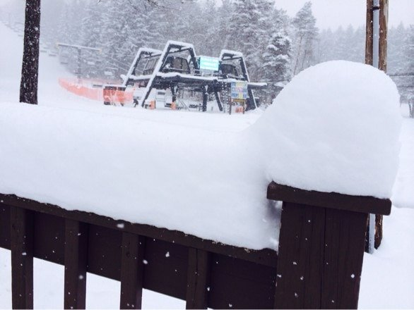 December powder day! Check out our web cam- it's still coming down!