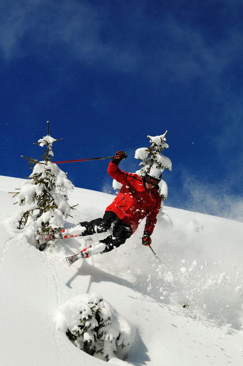 Abseits der Piste im Skigebiet Winklmoosalm - © Norbert Eisele-Hein