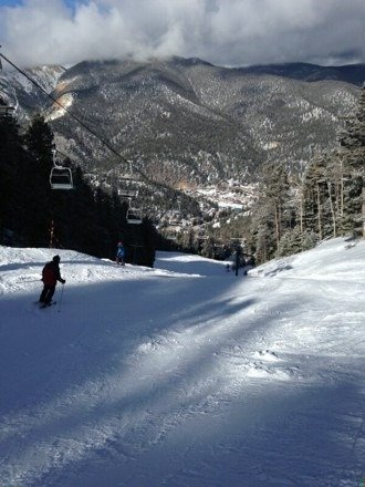 """We skied and boarded the 26-30th. First day was ok, second day guys skied Taos, and last day it snowed a few inches in RR and there was about 8""""-10"""" of powder that morning. Looking forward to returning Feb or March"""