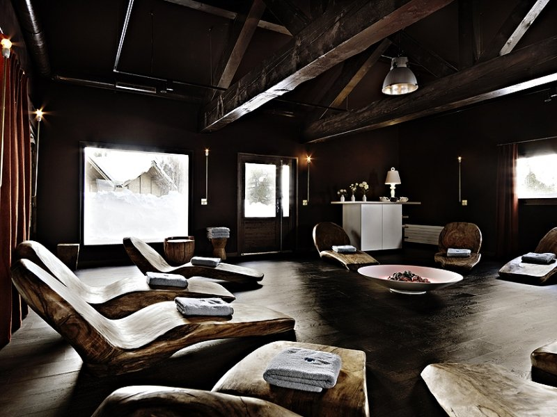 Relaxation area at the Deep Nature Spa in Arc 1950 - © Deep Nature