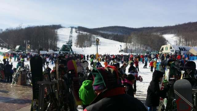 Good conditions but there were way too many people