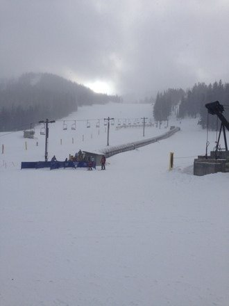 Great day!! Got some snow today and lots of powder on advanced runs !!
