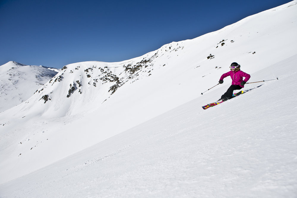The Breckenridge Peak 6 expansion offers new wide-open exposed runs, glades and flowy groomers. - © Breckenridge
