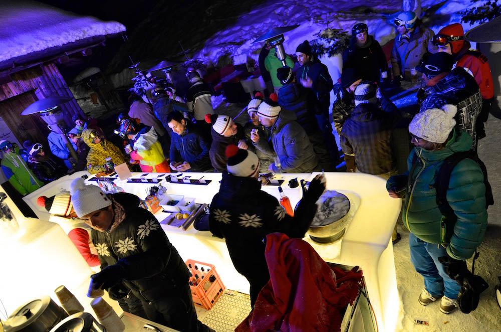 La fameuse et désormais célèbre Full Moon Party à la Clusaz - © David Machet